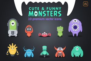 10 adorable & vector monsters!