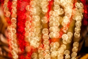 Red and golden bokeh