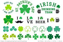 St. Patrick's day, vector set