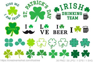 St. Patrick's day, vector set