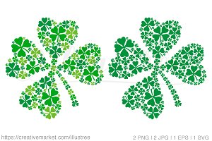 Clover leaf, vector