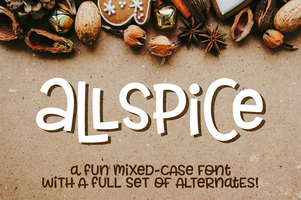 mixed case letter allspice a mixed font display fonts 23671 | allspice 1 hero
