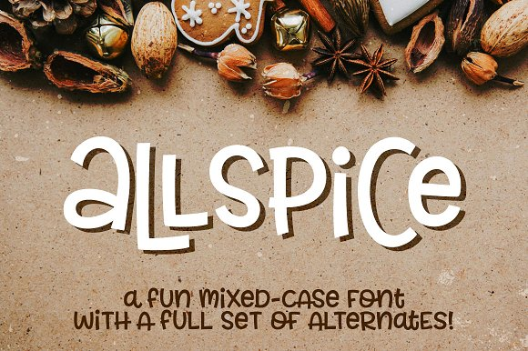 Allspice A Fun Mixed-case Font