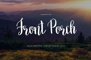 Brush Script Font: Front Porch