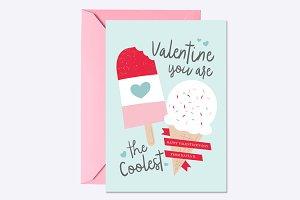 Coolest Valentine Card Template