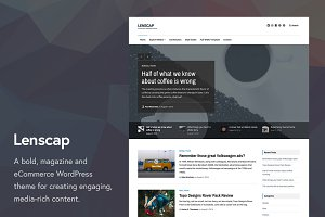 Lenscap Magazine and eCommerce Theme