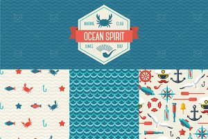 Ocean Patterns Set