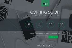 ODI Coming soon html template