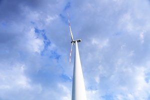 Close up of wind power