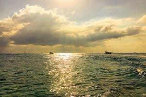 Boat trip on ocean