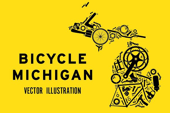 Michigan Made From Bicycle Parts