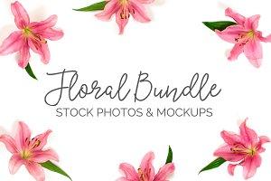 Spring Florals & Mockups (15 Images)