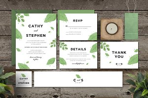 Leaves Invitation Set