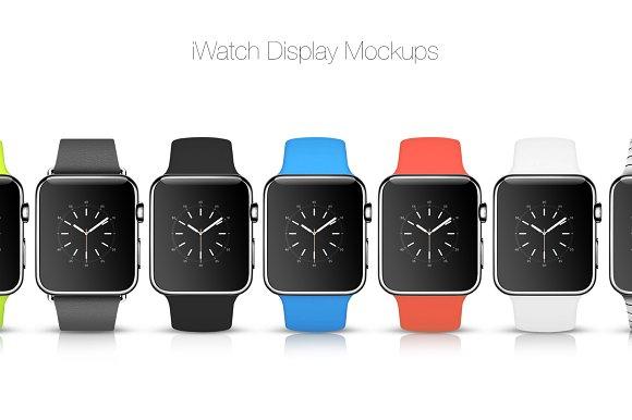 Download iWatch Display Mockups