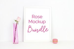 Rose Mockup Bundle (5 Images)