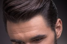 head face closeup man suit elegant