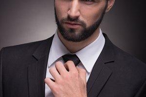 suit handsome closeup head face man