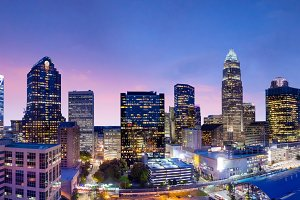 Skyline of downtown Charlotte