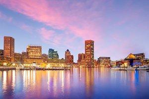 Downtown Baltimore Maryland USA