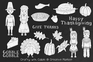 Thanksgiving Pilgrim Chalkboard