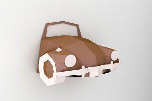 DIY Car front Wall decor -papercraft