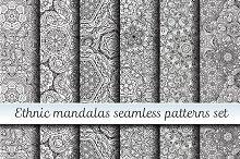 Ethnic mandalas patterns set