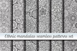 Ethnic mandalas patterns set