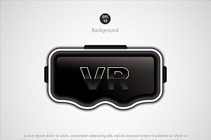 Abstract VR glasses
