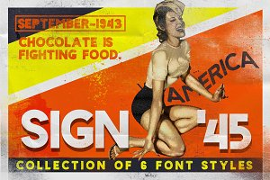 Sign '45 Typeface -50%