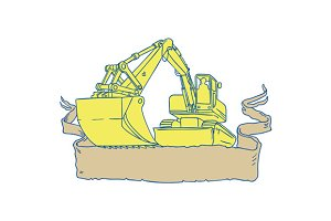 Mechanical Digger Excavator Ribbon