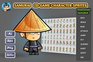 Samurai 2D Game Character Sprites