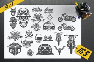 22 in 1 set of Biker for emblems