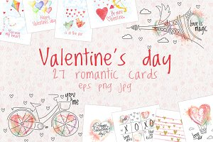 Valentine's Day Cards - Love Set