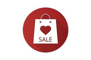 Valentine's Day sale icon. Vector