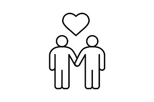 Homosexual couple icon. Vector