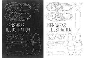 Menswear accessories illustration