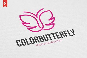 Color Butterfly Logo