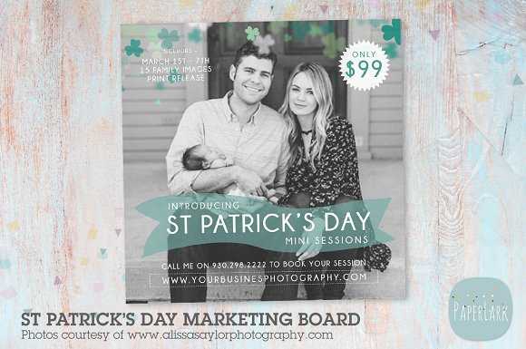IX002 St Patrick's Day Marketing in Flyer Templates