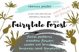 Fairytale forest 2 : meadow flowers.