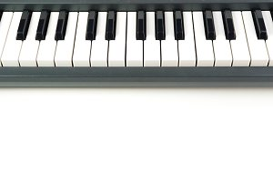 Piano keyboard detail