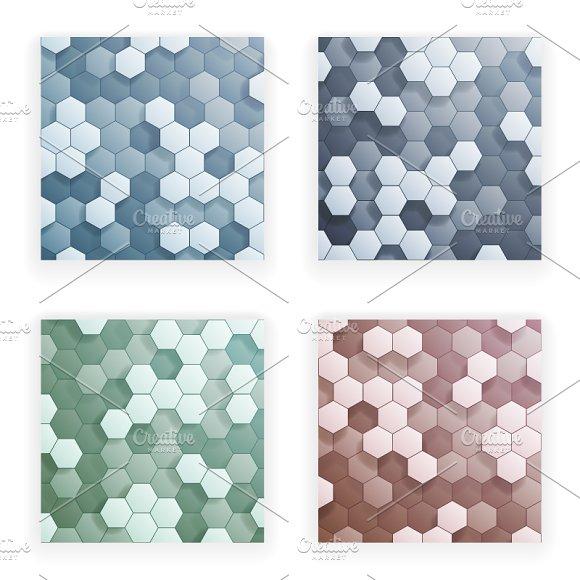 Hexagons 3D Abstract