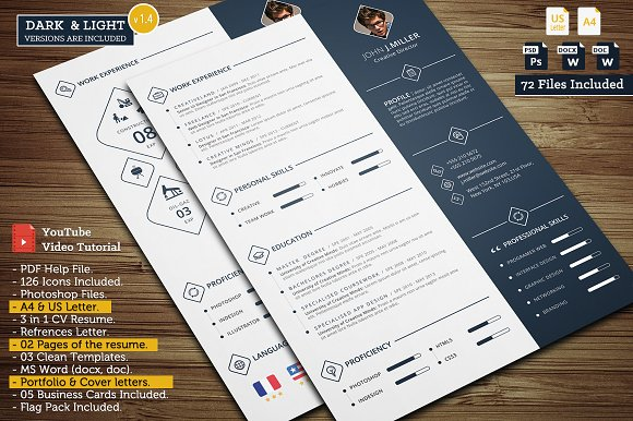power cv resume templates creative market