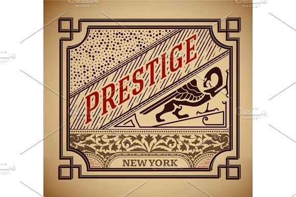 Retro label design