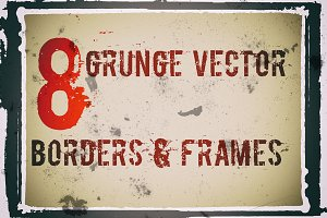 Grunge vector frames and borders