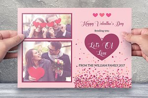 Valentine Day Card Template -V481