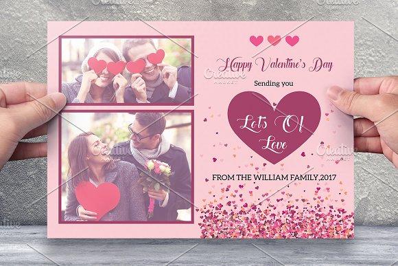 Valentine Day Card Template V481