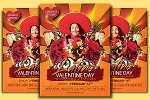 Latino Valentine Day Flyer Template
