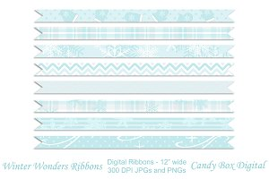 Winter Wonder Ribbon Borders