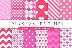 Pink Valentine's Day Digital Papers