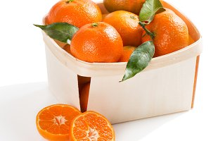 Box full of clementines.